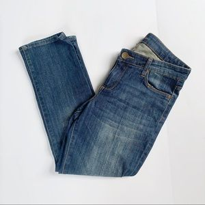 Kut from the Kloth Reece Ankle Straight Leg Jeans